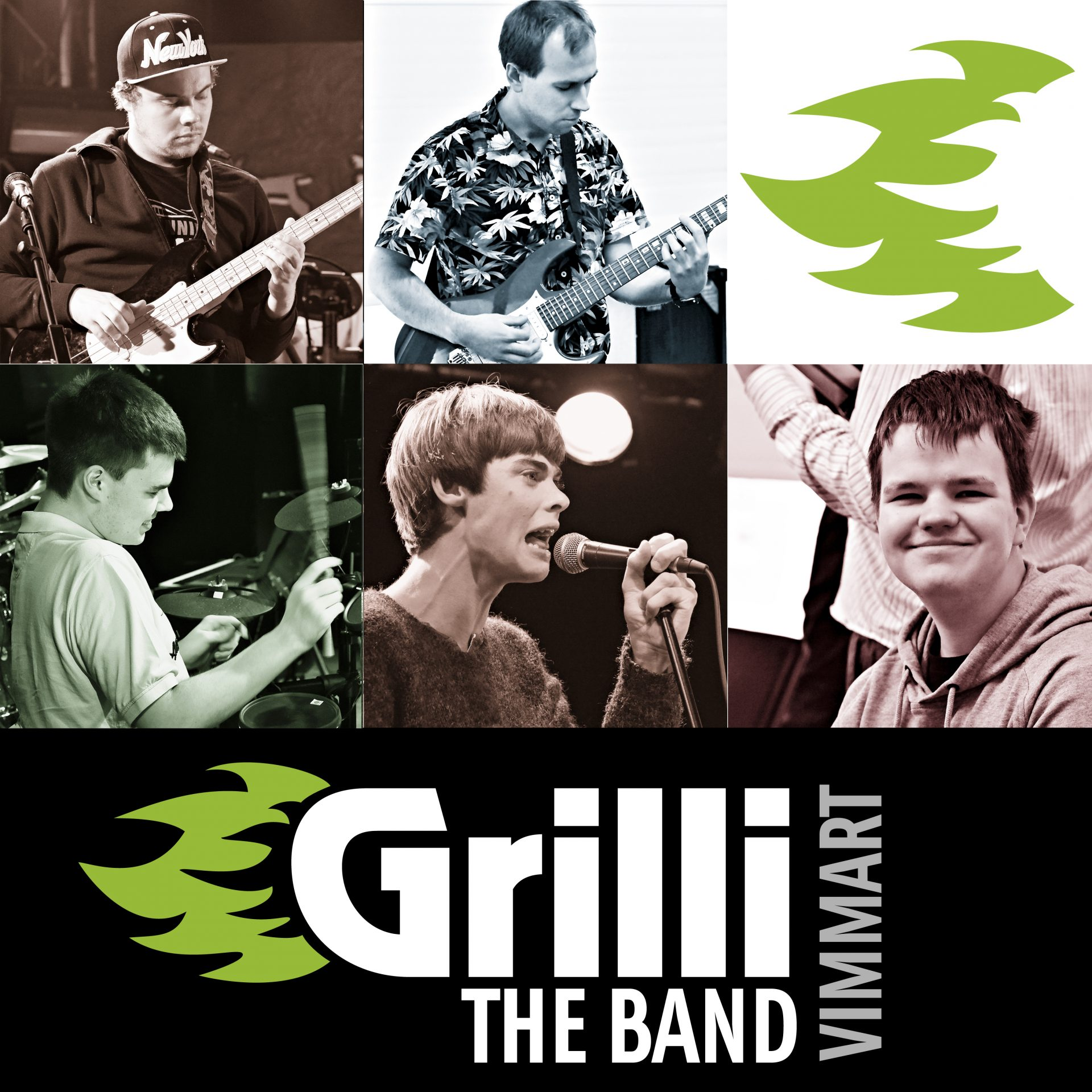 Grilli the Band logo and band members